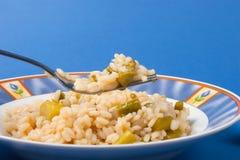 Ρύζι με το σπαράγγι Στοκ φωτογραφία με δικαίωμα ελεύθερης χρήσης