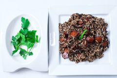 Ρύζι με calamary Στοκ εικόνα με δικαίωμα ελεύθερης χρήσης