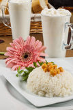 Ρύζι με chickpea στοκ εικόνες
