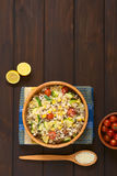 Ρύζι με Mincemeat και τα λαχανικά Στοκ εικόνες με δικαίωμα ελεύθερης χρήσης