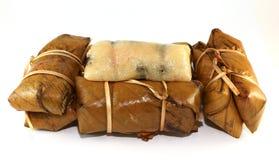 ρύζι μπανανών κολλώδες Στοκ φωτογραφίες με δικαίωμα ελεύθερης χρήσης