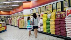 Ρύζι που πωλείται στο κατάστημα στη Σιγκαπούρη Στοκ Εικόνες