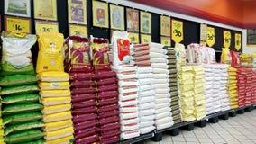 Ρύζι που πωλείται στο κατάστημα στη Σιγκαπούρη Στοκ εικόνες με δικαίωμα ελεύθερης χρήσης