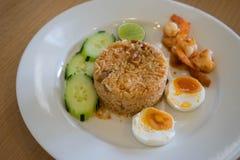 ρύζι που τηγανίζεται με τη σάλτσα τσίλι Στοκ φωτογραφία με δικαίωμα ελεύθερης χρήσης