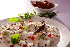Ρύζι στάρπης - ρύζι νότιου ινδικό γιαουρτιού. Στοκ Εικόνες