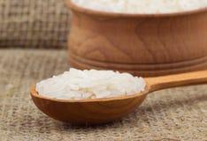 Ρύζι στο κουτάλι Στοκ Φωτογραφίες
