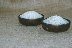 Ρύζι στο ξύλινο τόξο Στοκ φωτογραφίες με δικαίωμα ελεύθερης χρήσης