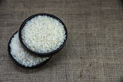 Ρύζι στο ξύλινο τόξο Στοκ εικόνες με δικαίωμα ελεύθερης χρήσης