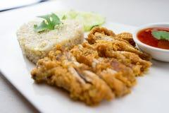 Ρύζι τηγανίζω-κοτόπουλου Στοκ φωτογραφία με δικαίωμα ελεύθερης χρήσης