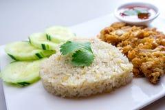 Ρύζι τηγανίζω-κοτόπουλου Στοκ φωτογραφίες με δικαίωμα ελεύθερης χρήσης