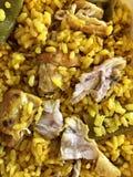 Ρύζι το τεμαχισμένο κοτόπουλο που απομονώνεται με Στοκ Εικόνες
