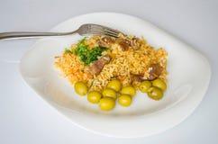 Ρύζι, τρόφιμα, γεύμα, πιάτο, κουζίνα, πολιτισμός Στοκ εικόνες με δικαίωμα ελεύθερης χρήσης
