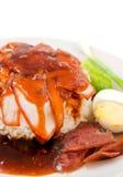 ρύζι χοιρινού κρέατος που Στοκ εικόνες με δικαίωμα ελεύθερης χρήσης