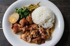 ρύζι χοιρινού κρέατος ποδ&i στοκ φωτογραφία με δικαίωμα ελεύθερης χρήσης