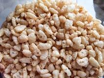 Ρύζι crispies για το υγιές πρόγευμα Στοκ Εικόνες