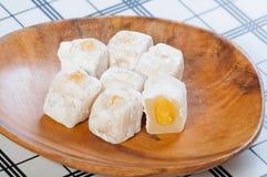 Ρύζι Glutenous που γεμίζουν με την κόλλα κρέμας mongo Στοκ φωτογραφίες με δικαίωμα ελεύθερης χρήσης