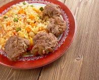 Ρύζι Jollof στοκ εικόνα