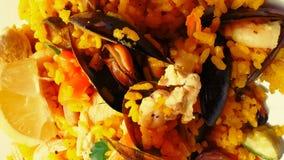 Ρύζι Paella Στοκ φωτογραφία με δικαίωμα ελεύθερης χρήσης