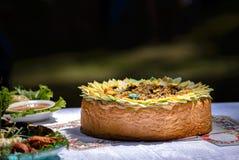 Ρύζι Pilau που ψήνεται στο ψωμί πεδίο βάθους ρηχό Στοκ φωτογραφία με δικαίωμα ελεύθερης χρήσης