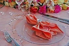 Ρύθμιση για το γαμήλιο γεύμα Κόμμα-7 στοκ φωτογραφία με δικαίωμα ελεύθερης χρήσης