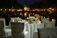 Ρύθμιση εστιατορίων Στοκ Εικόνες