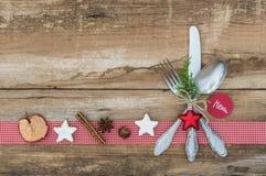 Ρύθμιση θέσεων Χριστουγέννων Στοκ Φωτογραφίες