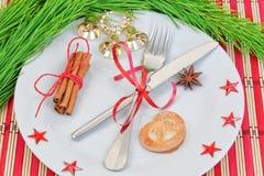 Ρύθμιση κουζινών των αντικειμένων Χριστουγέννων. Στοκ εικόνα με δικαίωμα ελεύθερης χρήσης