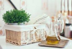 Ρύθμιση κουζινών Στοκ φωτογραφία με δικαίωμα ελεύθερης χρήσης