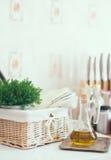 Ρύθμιση κουζινών Στοκ Φωτογραφία