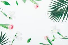 Ρύθμιση λουλουδιών των ρόδινων και άσπρων λουλουδιών Στοκ εικόνες με δικαίωμα ελεύθερης χρήσης
