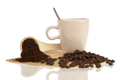 Ρύθμιση της ουσίας καφέ περίκομψη Στοκ Εικόνες