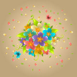 Ρύθμιση των λουλουδιών διανυσματική απεικόνιση