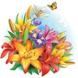 Ρύθμιση των λουλουδιών Στοκ φωτογραφία με δικαίωμα ελεύθερης χρήσης