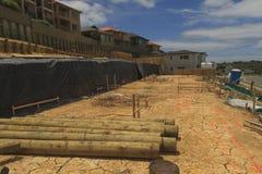 Ρύθμιση των πλοκών εδάφους για την κατασκευή των ιδιωτικών σπιτιών στη Νέα Ζηλανδία Στοκ εικόνες με δικαίωμα ελεύθερης χρήσης