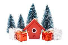 Ρύθμιση Χριστουγέννων που απομονώνεται στο λευκό Στοκ φωτογραφίες με δικαίωμα ελεύθερης χρήσης