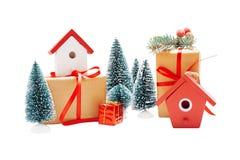 Ρύθμιση Χριστουγέννων που απομονώνεται στο λευκό Στοκ φωτογραφία με δικαίωμα ελεύθερης χρήσης