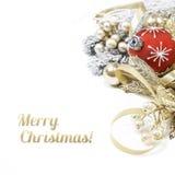 Ρύθμιση Χριστουγέννων στο άσπρο υπόβαθρο Στοκ Εικόνα