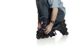 ρύθμιση rollerblade Στοκ φωτογραφία με δικαίωμα ελεύθερης χρήσης