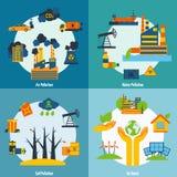 Ρύπανση και σύνολο οικολογίας Στοκ Εικόνες