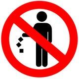 ρύπανση κανενός σημαδιού Στοκ φωτογραφία με δικαίωμα ελεύθερης χρήσης
