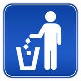 ρύπανση κανενός σημαδιού Στοκ Εικόνες