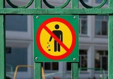 ρύπανση κανενός σημαδιού Στοκ φωτογραφίες με δικαίωμα ελεύθερης χρήσης