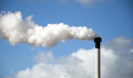 ρύπανση κλίματος αλλαγής Στοκ εικόνα με δικαίωμα ελεύθερης χρήσης
