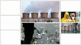 Ρύπανση της περιβάλλον-διασπασμένης οθόνης απόθεμα βίντεο