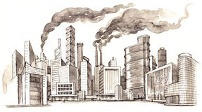 ρύπανση διανυσματική απεικόνιση