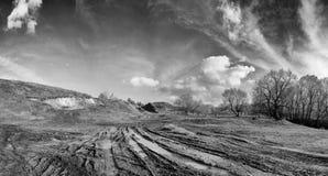 Ρύπος στον αγροτικό δρόμο Στοκ Φωτογραφίες