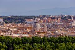 Ρώμη Άποψη της πόλης από το λόφο Aventine στοκ φωτογραφία
