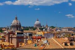 Ρώμη Άποψη της πόλης από το λόφο Aventine στοκ εικόνες
