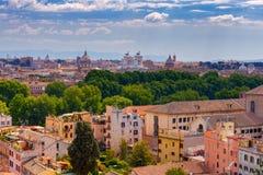 Ρώμη Άποψη της πόλης από το λόφο Aventine στοκ φωτογραφία με δικαίωμα ελεύθερης χρήσης