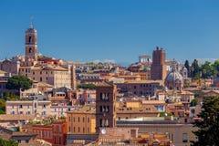 Ρώμη Άποψη της πόλης από το λόφο Aventine στοκ φωτογραφίες